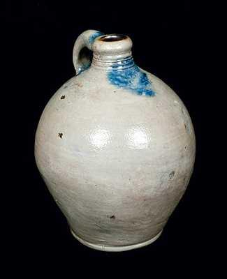 Ovoid Stoneware Jug, Cheesequake, NJ, circa 1800