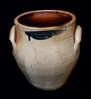 CHOLLAR, DARBY & CO. / HOMER, NY Stoneware Crock