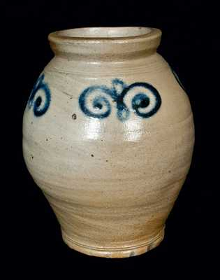 18th Century Ovoid Stoneware Jar, New York City or Cheesequake, New Jersey