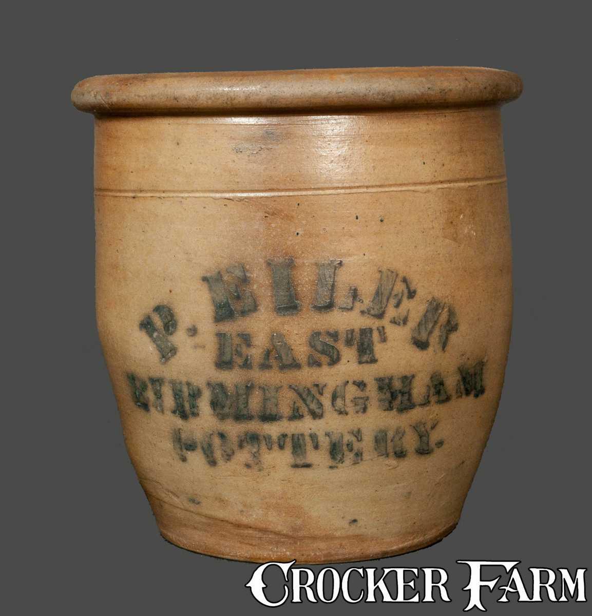 P Eiler East Birmingham Pottery Stoneware Cream Jar
