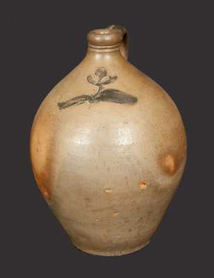Ovoid Stoneware Jug with Incised Floral Decoration, Albany, Circa 1820