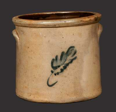 Stoneware Crock with Leaf Decoration, Northeastern U.S. origin.