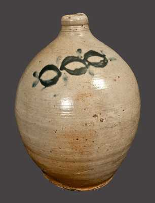Ovoid Stoneware Jug attributed to Thomas Commeraw, Manhattan, circa 1810