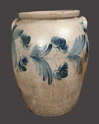 Rare Monumental 10 Gal. Stoneware Crock, Baltimore, circa 1860