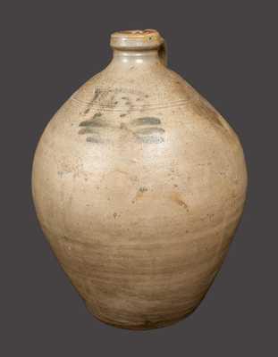 Very Rare EATON & STOUT (South River, NJ) Stoneware Jug Dated 1832