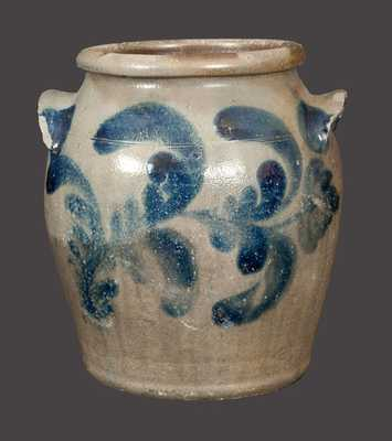 1 Gal. Ovoid Stoneware Jar Signed H. C. SMITH, Alexandria, VA
