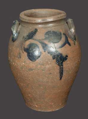 2 Gal. Ovoid Stoneware Crock att. J. P. Schermerhorn, James River, VA, circa 1830