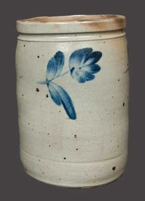 2 Gal. Stoneware Crock with Floral Decoration att. R. J. Grier, Chester County, PA