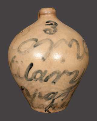 Rare Rome, NY 3 Gal. Stoneware Jug inscribed
