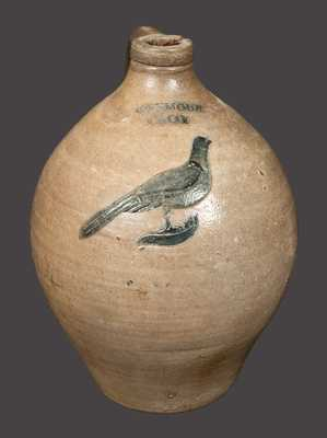 1 Gal. I. SEYMOUR / TROY Stoneware Jug with Incised Bird Decoration