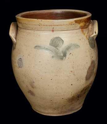 3 Gal. Early Ovoid Stoneware Jar, Northeastern US