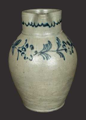 Rare Slip-Trailed Baltimore Stoneware Pitcher, circa 1820