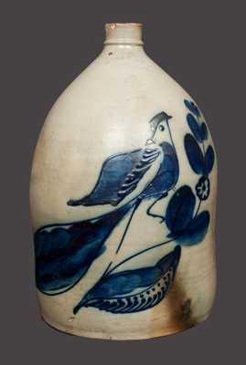 Outstanding 4 Gal. WHITE & WOOD / BINGHAMPTON Stoneware Bird Jug