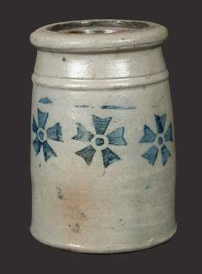 Small Western PA Stoneware Canning Jar with Stenciled Asterisk Decoration