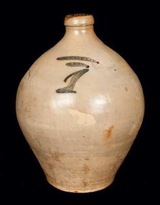 1 Gal. N. CLARK & CO. / LYONS Ovoid Stoneware Jug