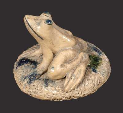 Anna Pottery / 1887 Stoneware Frog Paperweight