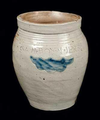 S. AMBOY. N. JERSY (Thomas Warne / Joshua Letts) Stoneware Jar