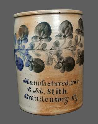J.H. Miller, Brandenburg, Kentucky, Stoneware Crock,