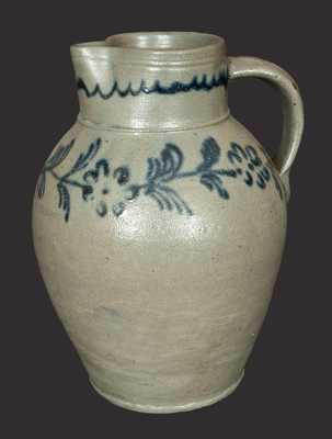 Rare Slip-Trailed Baltimore Stoneware Pitcher, circa 1820