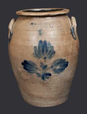 Rare 2 Gal. J. W. COWDEN / HARRISBURG, PA Stoneware Crock
