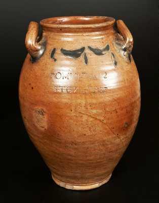 COMMERAWS STONEWARE Jar with Impressed Decoration, Three-Gallon