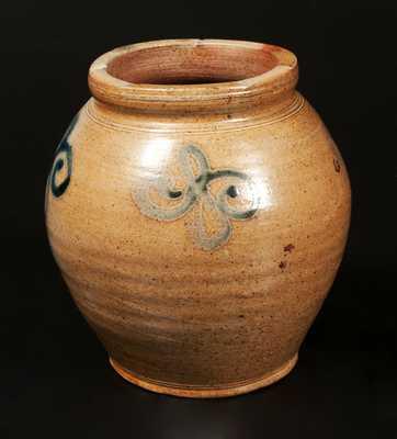 Rare Small-Sized Stoneware Jar attib. Captain James Morgan, Cheesequake, NJ, 18th century