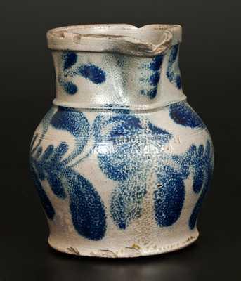Very Rare H. C. SMITH / ALEXA, DC Half-Gallon Stoneware Pitcher with Floral Decoration