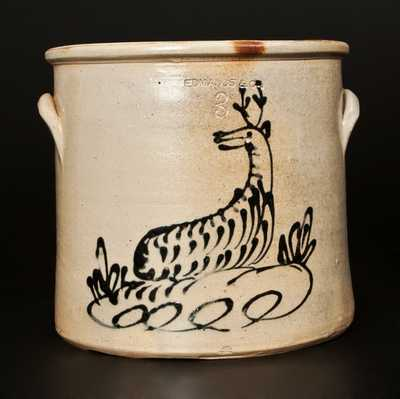 EDMANDS & CO (Charlestown, MA) Stoneware Deer Crock