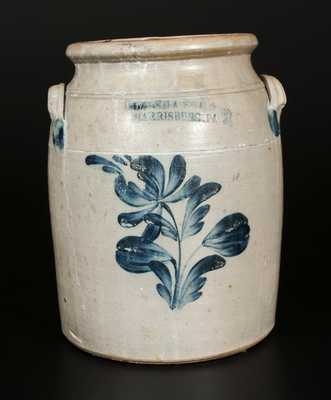 COWDEN & WILCOX / HARRISBURG Stoneware Crock with Floral Decoration