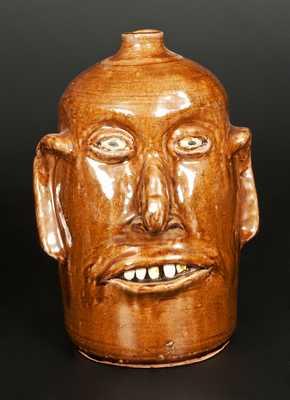 Reggie Meaders Stoneware Face Jug