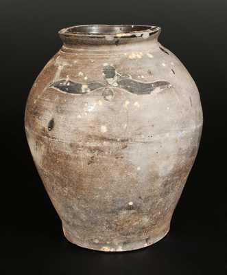 Rare J. REMMEY / MANHATTAN-WELLS / NEW-YORK 2 Gal. Stoneware Jar with Incised Decoration