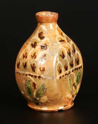 Exceptional Redware Flask