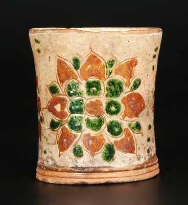 Pennsylvania Sgraffito Redware Mug