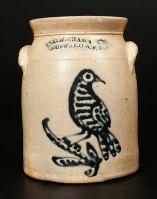 C.W. BRAUN / BUFFALO, NY Elaborate Bird Crock