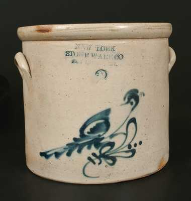 NEW YORK STONEWARE CO. / FORT EDWARD, NY Stoneware Bird Crock