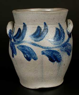 2 Gal. BELL (Shenandoah Valley of Virginia) Stoneware Crock with Leafy Vine Decoration