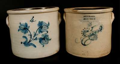 Lot of Two: Northeastern U.S. Stoneware Crocks (Poughkeepsie and Newark)