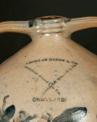 Rare Diminutive CHOLLAR, DARBY & CO. (Cortland, NY) Stoneware Open-Handled Water Cooler