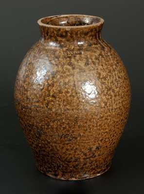 J.S. NASH, Marion County, Texas, Alkaline-Glazed Stoneware Jar