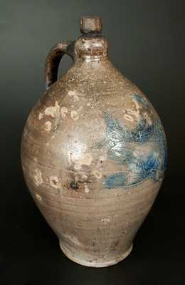 Important Stoneware Jug w/ Depiction of