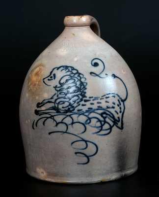 Very Rare HART'S / FULTON Stoneware Lion Jug