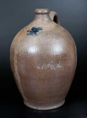 Stoneware Jug w/ Cobalt Star Decoration, possibly Egbert Schoonmaker, Kingston, NY