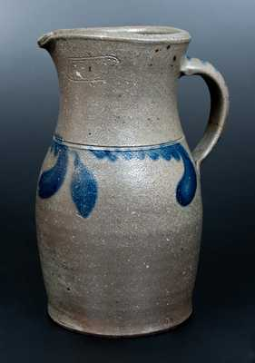 Very Rare J. EBERLY & BRO. / STRASBURG, VA Stoneware Pitcher