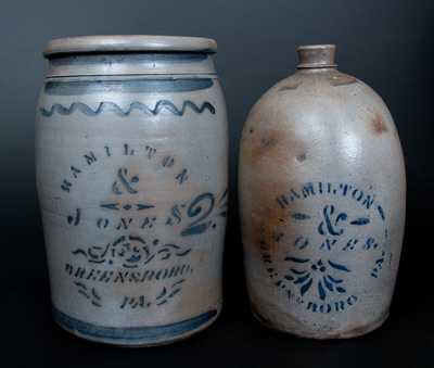 Lot of Two: HAMILTON & JONES / GREENSBORO, PA Stoneware