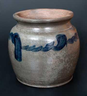 Rare att. Henry Glazier (Huntingdon, PA) Squat-Shaped Stoneware Jar