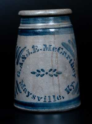 G.A. & J.E. McCARTHEY / Maysville, Ky. Advertising Canner (Western PA origin)