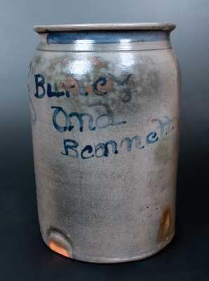 Burley & Bennett, Barbour County, WV Stoneware Crock