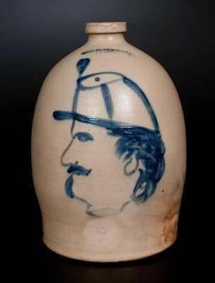 Extremely Rare and Important COWDEN & WILCOX / HARRISBURG, PA Civil War Soldier Jug