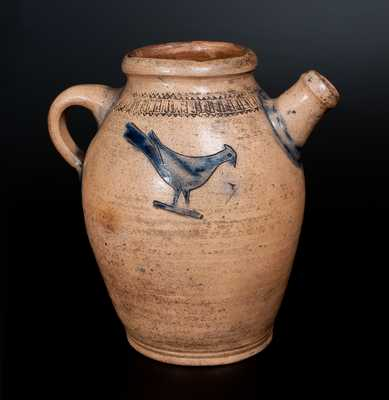 Stoneware Teapot w/ Impressed Birds, Thomas Warne and Joshua Letts, South Amboy, NJ
