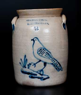 COWDEN & WILCOX / HARRISBURG. PA Stoneware Jug w/ Walking Bird